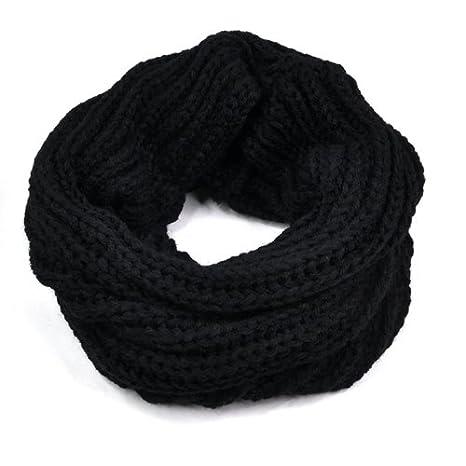 online store a9ad2 e7b60 Gleader Nuovo nero scaldacollo cappuccio della sciarpa dello scialle  Inverno a maglia delle donne della signora