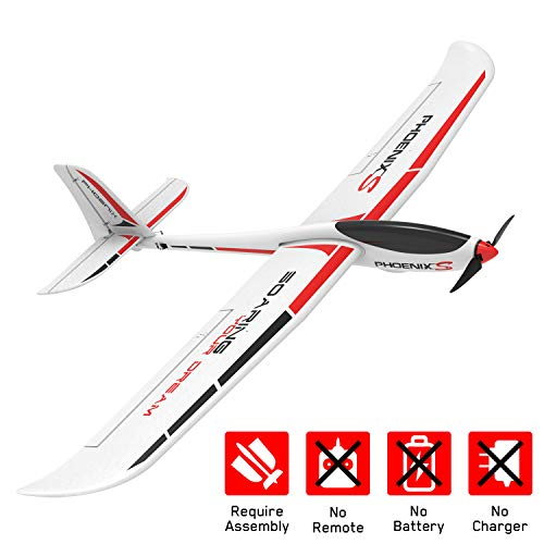 VOLANTEXRC Brushless RC Airplane PhoenixS 2.4GHz Remote Control Glider Plane with Durable Plastic Fuselage, 1.6M Wingspanfor Adults, Advanced Pilot (742-7 PNP)