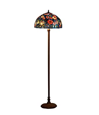 Lámpara de pie de estilo Tiffany de 16 pulgadas, pintura de ...