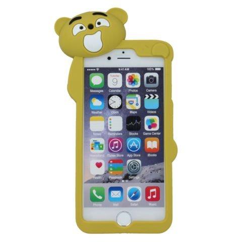 BACK CASE 3D TEDDYBÄR 2 olivgrün für Apple iPhone 5 iPhone 5G iPhone 5S Hülle Cover Case Schutzhülle Tasche Teddy