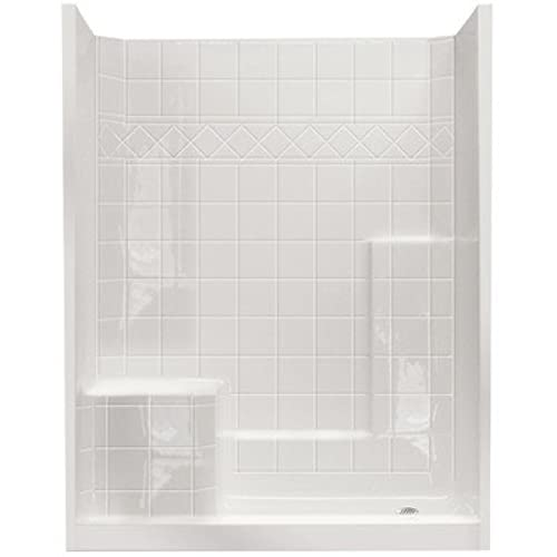 Standard Low Threshold System 3 Panels Shower Wall Drain Location: Right