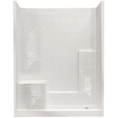Fiberglass Shower Walls (Standard Low Threshold System 3 Panels Shower Wall Drain Location: Right)