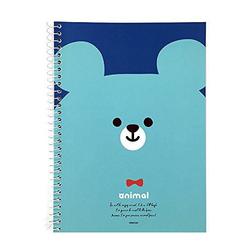 (Animal Mini A5 Size Spiral Blank Notebook Note Pad (BEAR))