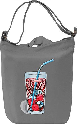 Strawberries Ice Tea Borsa Giornaliera Canvas Canvas Day Bag| 100% Premium Cotton Canvas| DTG Printing|
