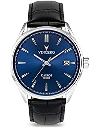Luxury Men's Kairos Wrist Watch — Blue dial with Black...