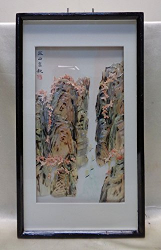 Gorgeous Oriental Vintage Elaborate Mother of Pearl Art in Shadow Box Frame (Shadow Box Sailboat)