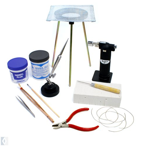 Standard Jewelry Soldering Kit with Silver Solder Wire SFC Tools Kit-1750 (Silver Solder Supplies compare prices)