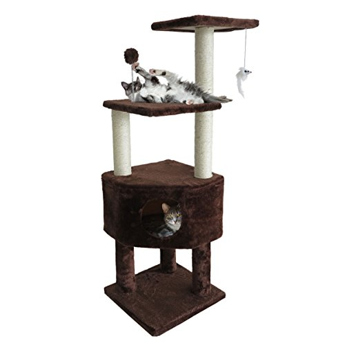 Furhaven Pet Cat Tree | Tiger Tough Cat Tree House Furniture for Cats & Kittens, Clubhouse Playground, Brown by Furhaven Pet