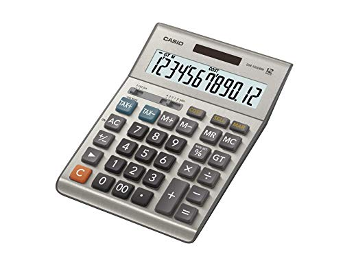 Casio Desktop DM-1200BM Calculator with 12-Digit Extra Large Display for Clear View and Easy Readability, Silver, 209D×155W×36.3H mm