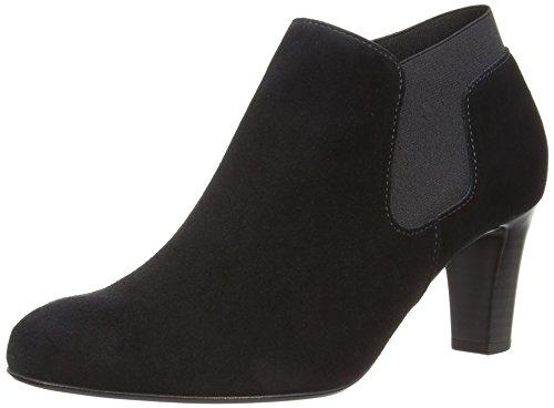 Gabor Pricilla S - Zapatos sin cordones de cuero mujer negro - Black Suede