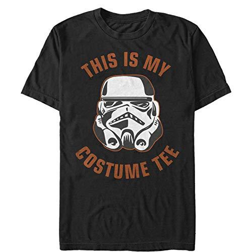 Star Wars Men's Halloween This is My Stormtrooper Costume Black T-Shirt ()