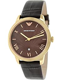 Emporio Armani Men's Classic AR1613 Brown Leather Quartz Watch with Brown Dial