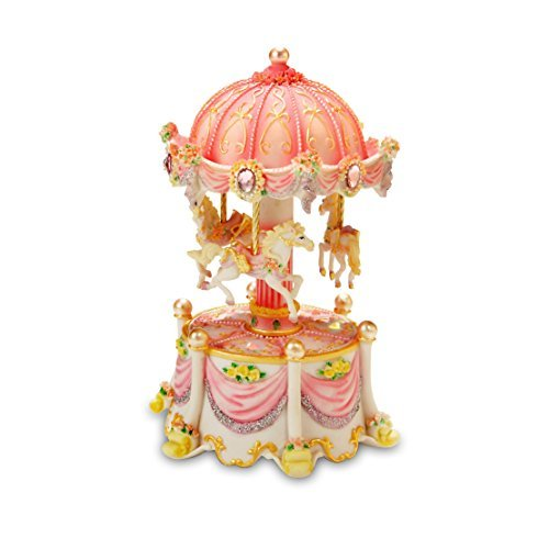 Carousel Dreams Mini 3-Horse Rotating Figurine The San Francisco Music Box Company