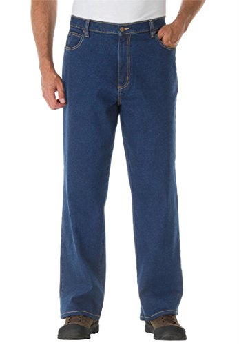 Liberty Blues Men's Big & Tall Relaxed Fit Stretch Jeans, Stonewash 54Wx38l