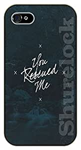 iPhone 6+ Plus Bible Verse - Stars. You rescued me - black plastic case / Verses, Inspirational and Motivational