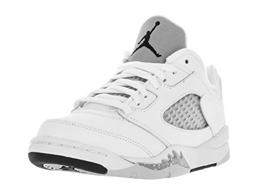 Jordan 5 Retro ''Metallic'' Low GP White/Black-Wolf Grey (Little Kid) by Jordan