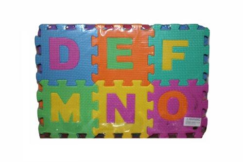 "EVA Educational Puzzle Foam Mat Interlocking Alphabet & Number - 36 Small Blocks (5"" by 5"" Each block)"