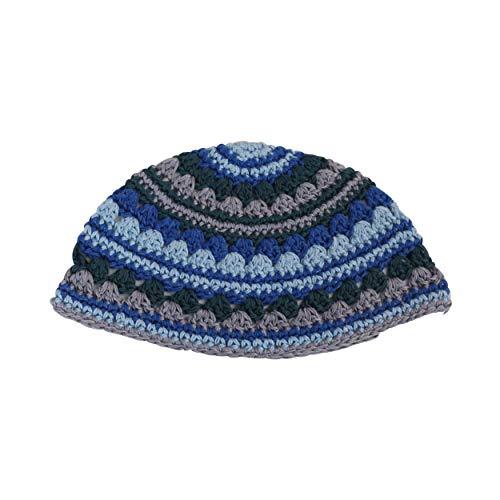 EREZ OVED Yarmulke Jewish Kippah Frik Kipa Judaica Yamaka Kippa Yamakah Yarmulka Hat Men Or Kids (Blue Cool)