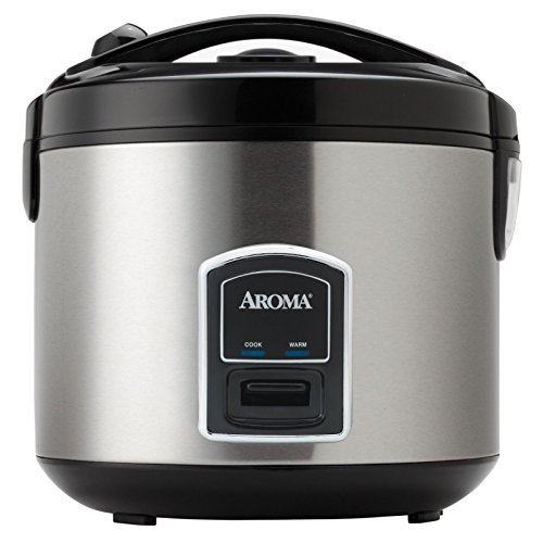 Professional 20-cup Stainless Steel Rice Cooker and Food Steamer by Aroma