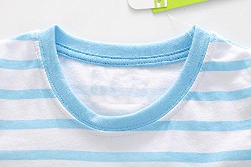 BEILEI CREATIONS Little Boys Summer Cotton Strip T Shirt,Summer Short Sleeve T-Shirt Clothes (18M-24M, Blue Ship) by BEILEI CREATIONS (Image #4)