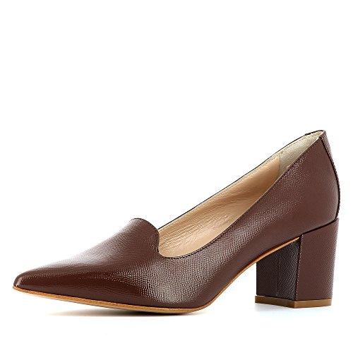 Femme Evita Escarpins Verni Shoes Imprimé Taupe Cuir Romina fPrqtwP