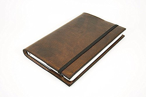 Personalized Leather Moleskine Classic Refillable Leather Cover of Chestnut Color Soft Full-Grain Horween Dublin Leather Vintage Journal Embossed with Initials or Name Different Sizes Moleskine Folio Professional Journal