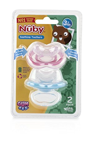 Nuby Natural Soothing Gel for Sore Gums with Bonus Gum-EEZ Teether Combo 0.53 f
