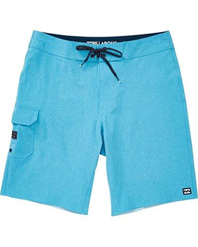 Billabong Men's Classic Solid Stretch Boardshort, All Day pro Coastal Blue Heather, 32 -