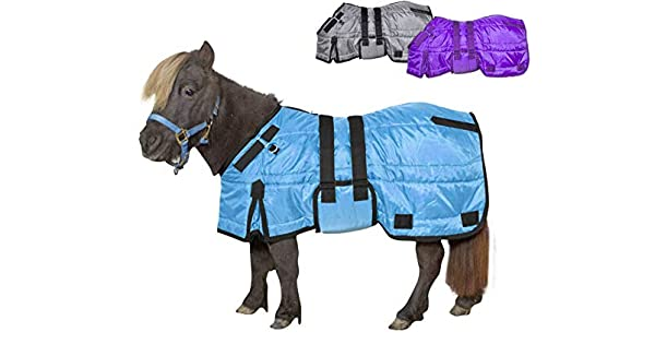 Medium Weight 200g Polyfil Insulation Derby Originals Windstorm Series Premium Mini Horse and Pony Winter Stable Blanket with 420D Breathable Nylon Exterior