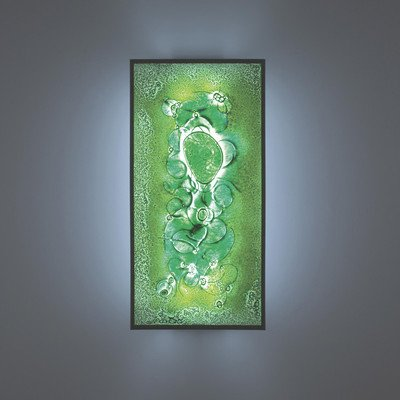FN Tall Bronze Fluorescent Wall Sconce (Half Moon Blue)