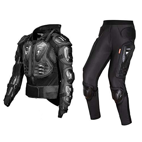 HBHHYRT Motorrad Schutzkleidung Herren Professionelle Brustpanzer Motocross Motorradjacke,Motorrad Protektorenjacke