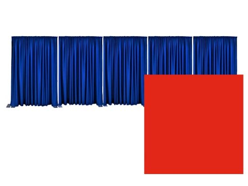 Pipe and Drape Premier Backdrop Kit 8 ft. x 50 ft. - Red