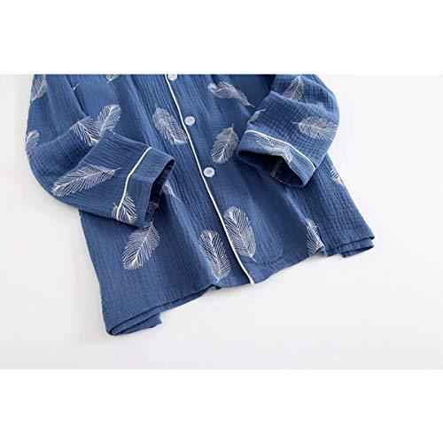 Gli Tuta Tengtengcai Impostare Pigiama Blu Pantaloni Nuovo Nightwear M Lunghe Sleepwear Di Cartoon Uomini L Autunno Cotone Maniche Garza qY7qp4rn