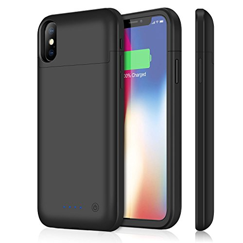 iPhone X /10 Battery Case iPosible 5200mAh Portable Slim Charging Cases for iPhone X /10 Bankup Pack (5.8inch) Extended Protective Charger Cover-Black