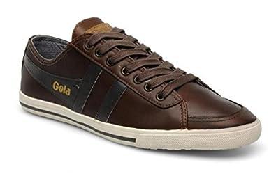 81134901744cca Gola - Quoda Premium - Basket Homme - Cuir Marron (Tan/Dark Brown ...