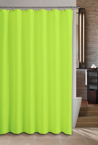 DINY Bath Elements Heavy Duty Magnetized Shower Curtain Liner Mildew Resistant Neon Green