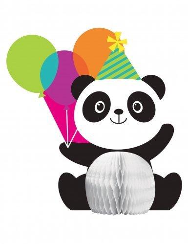 1 Shaped Honeycomb Centerpiece, (Panda Party Decorations)