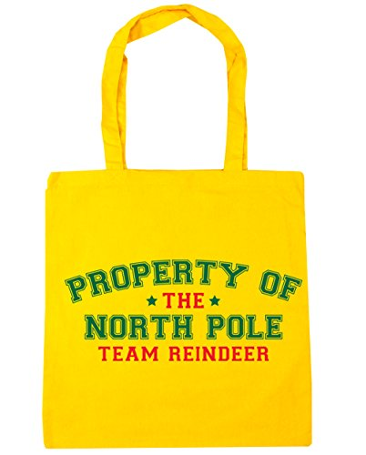 reindeer 10 the Tote of Shopping x38cm Beach north 42cm Gym pole Yellow litres HippoWarehouse Bag Property team w6xEUYq