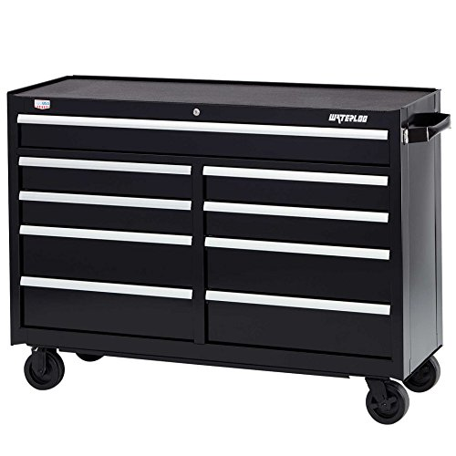 Waterloo W500 Series 9-Drawer Rolling Tool Cabinet with Posi-latch Drawer Latching System, 52' Wide