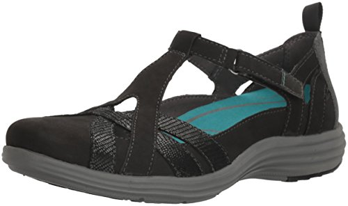 Aravon Women's Beaumont Fisherman Sandal, Black, 7.5 B US