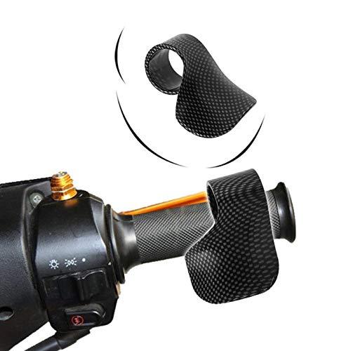 Fibre Grips - XuBa Universal Motorcycle E-Bike Grip Throttle Assist Carbon Fiber Moto Wrist Cruise Control Cramp Rest Grips Snake Skin Color Black