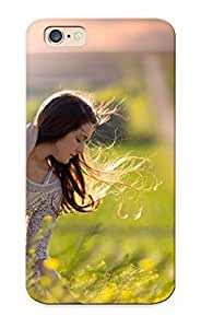Mooseynmv Perfect Tpu Case For Iphone 6/ Anti-scratch Protector Case (girl Picking Flowers )