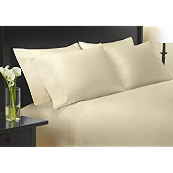 charisma queen size 400 thread count sateen sheet set 100 egyptian cotton ivory