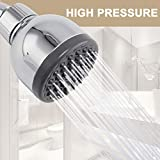 Neady High Pressure shower head High Flow 3 Inch Shower head for Low Water Pressure,Wall Mount, Chrome