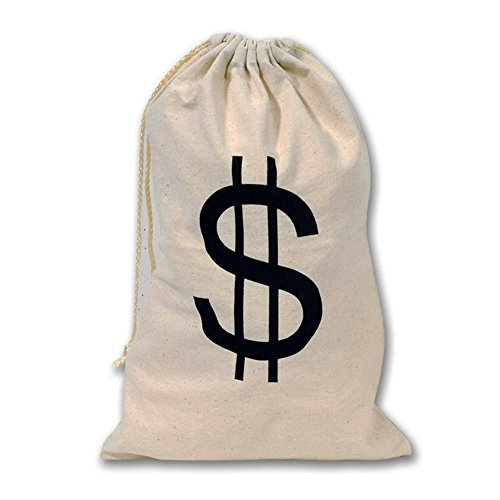 Large Money Dollar Sign Party Favor Goody Bag ()
