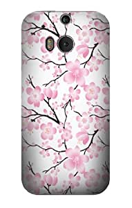 S1972 Sakura Cherry Blossoms Case Cover For HTC ONE M8