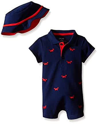 Amazon Little Me Baby Boys Romper and Hat Clothing