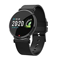 TEYO Fitness Tracker Watch, Activity Tracker Smart Watch Heart Rate Blood Pressure Monitor Watch, Sleep Monitor Step Calorie Counter Color Screen Smart Band, Pedometer Watch, IP67 Waterproof