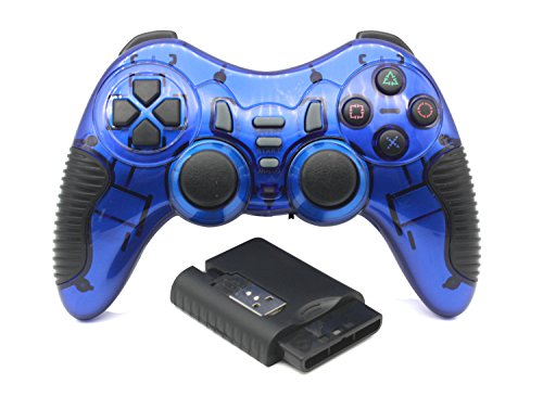 - C-Zone 6 in 1 2.4G Wireless Technology Gamepad/Game Controller for PC/PS1/PS2/PS3/PC360/Android TV/TV Box/PC/Tablet-Blue