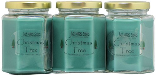 Candle Blended - 3 Pack - Christmas Tree Scented Blended Soy Candle | Real Christmas Tree Fragrance | Hand Poured in The USA by Just Makes Scents